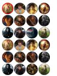 24 The Hobbit Edible Wafer Rice Cup Cake Toppers Lord of the Rings